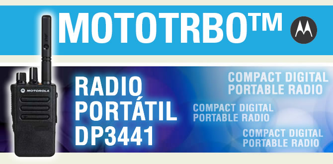 MOTOTRBO™ DP3441 PORTABLE RADIO