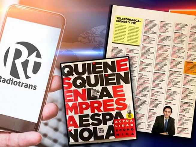 Radiotrans en el Quién es Quién 2018 en la Empresa Española de Actualidad Económica