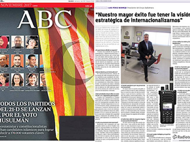 Periódico ABC. Entrevista Luis Pérez Bermejo, Presidente Grupo Radiotrans